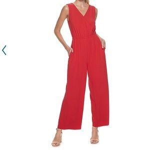 Women's apt 9 sleeveless wrap jumpsuit